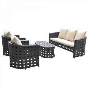 Комплект дачной мебели KVIMOL KM-0008 Black